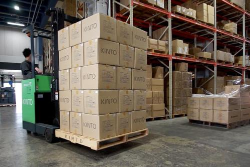 PALLET OF KINTO PRODUCTS AT KINTO JAPAN WAREHOUSE  IMAGE 1