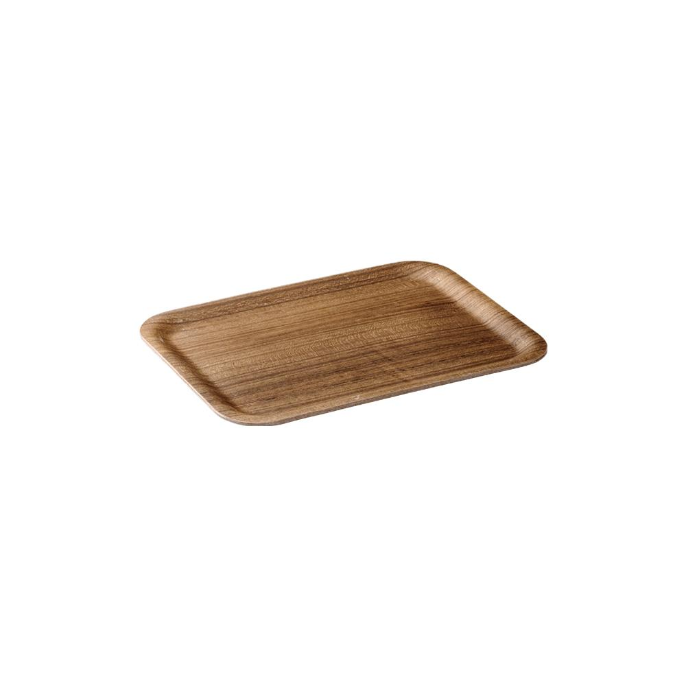 KINTO NONSLIP TRAY 270X200MM / 11X8IN  TEAK