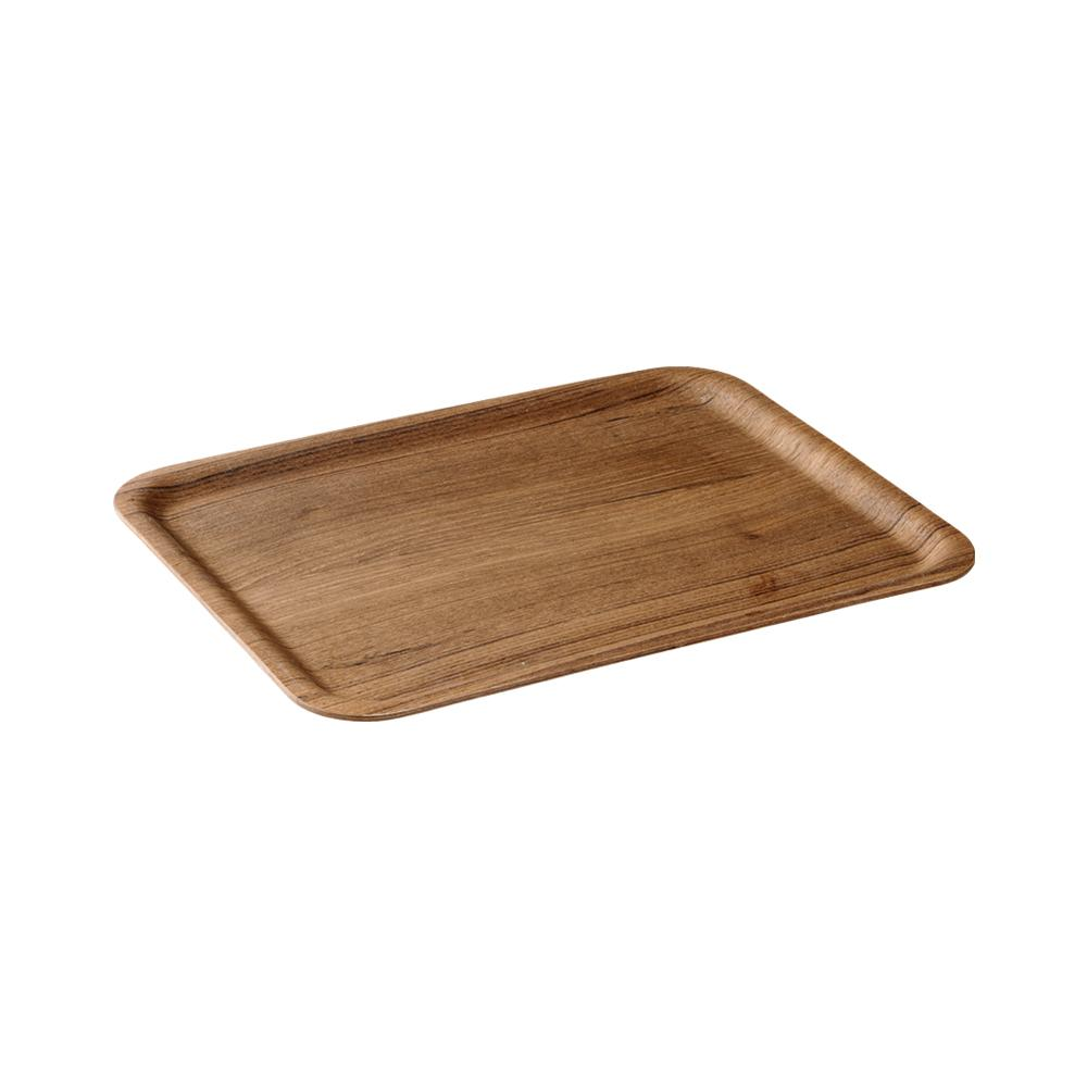 KINTO NONSLIP TRAY 360X280MM / 14X11IN  TEAK