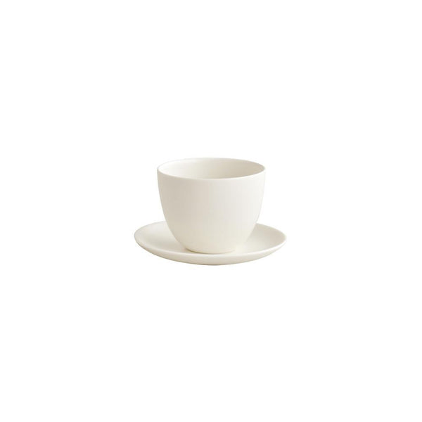 KINTO PEBBLE CUP & SAUCER 180ML / 6OZ WHITE