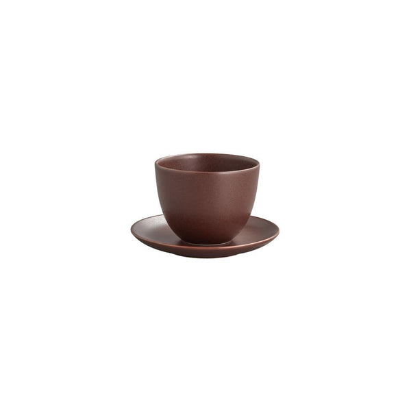 KINTO PEBBLE CUP & SAUCER 180ML / 6OZ BROWN
