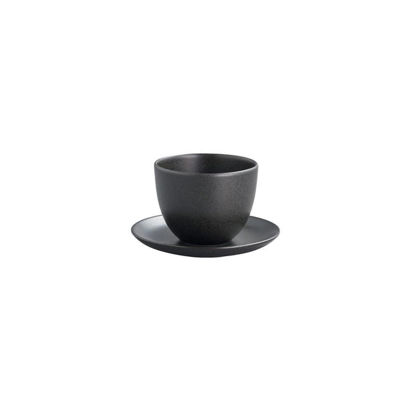 KINTO PEBBLE CUP & SAUCER 180ML / 6OZ BLACK