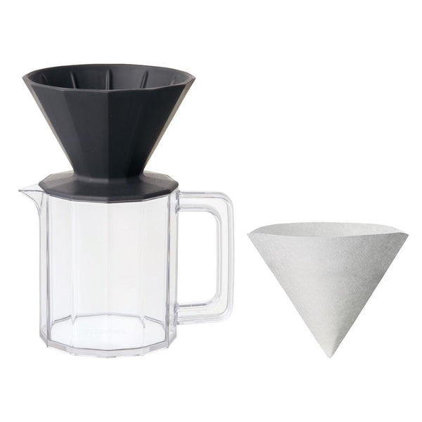 KINTO ALFRESCO BREWER JUG SET 4CUPS BLACK