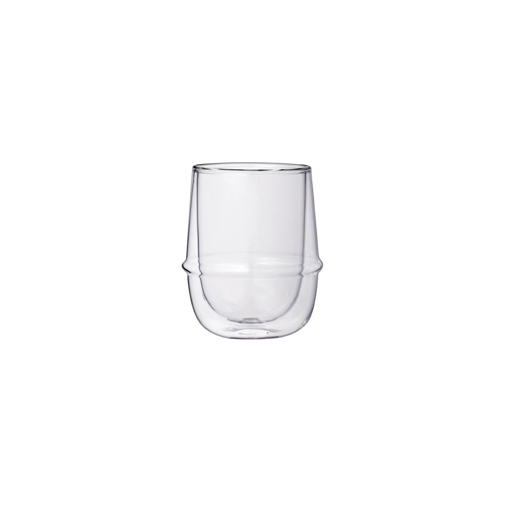 KINTO KRONOS DOUBLE WALL COFFEE CUP 250ML / 8OZ  CLEAR