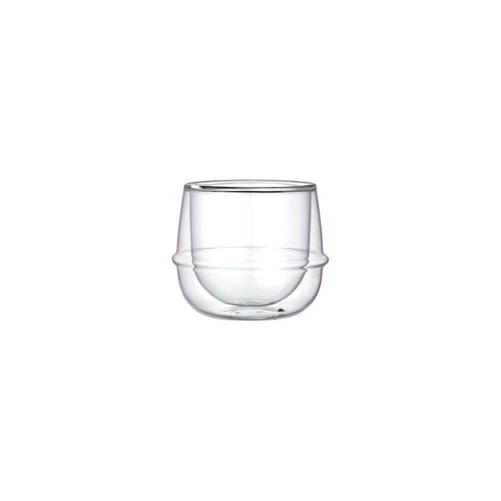 KINTO KRONOS DOUBLE WALL WINE GLASS 250ML / 8OZ  CLEAR