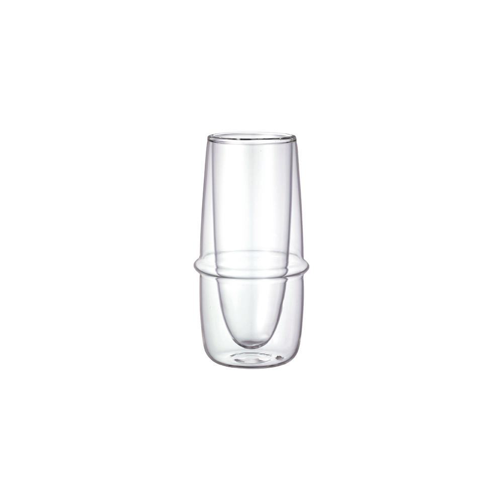 KINTO KRONOS DOUBLE WALL CHAMPAGNE GLASS 160ML / 5OZ  CLEAR