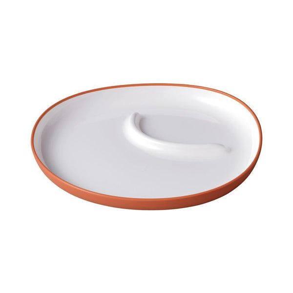 KINTO BONBO PLATE 240X220MM / 10X9IN ORANGE