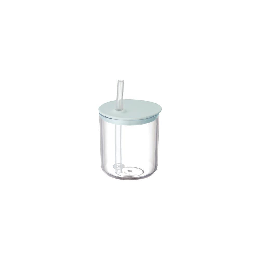 KINTO BONBO STRAW CUP 200ML / 8OZ  BLUE GRAY