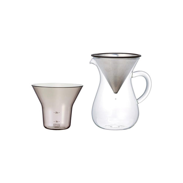 KINTO SCS COFFEE CARAFE SET 300ML / 20OZ STAINLESS STEEL STAINLESS STEEL