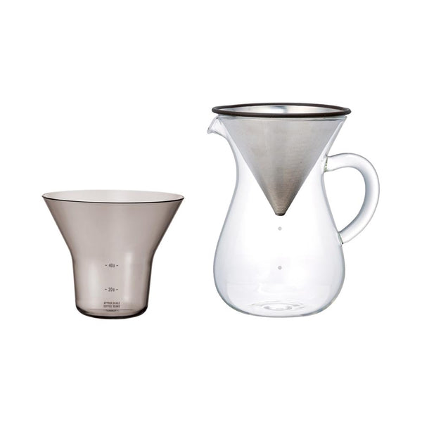 KINTO SCS COFFEE CARAFE SET 600ML / 37OZ STAINLESS STEEL STAINLESS STEEL