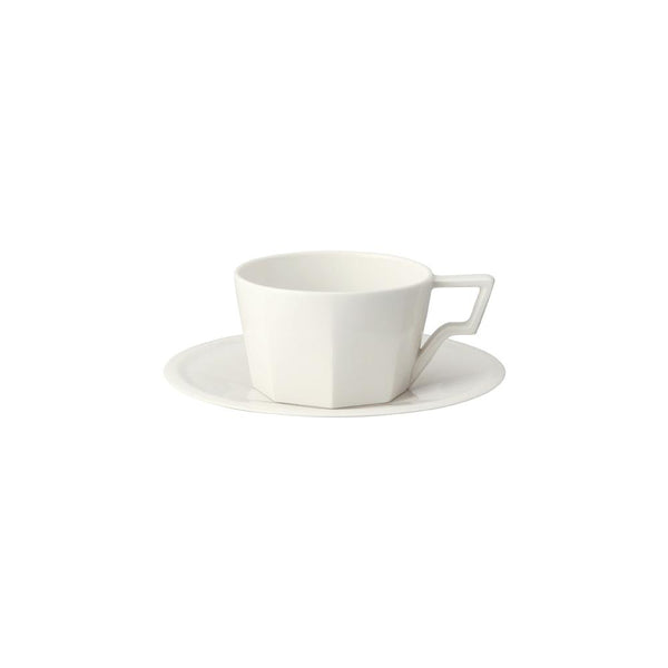 KINTO OCT CUP & SAUCER 220ML / 7OZ WHITE
