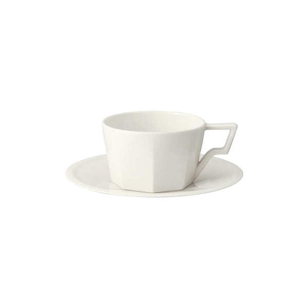 KINTO OCT CUP & SAUCER 300ML / 10OZ WHITE