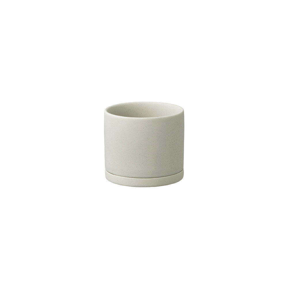 KINTO PLANT POT 191_ 85MM / 3IN  EARTH GRAY