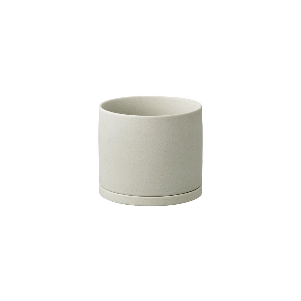 KINTO PLANT POT 191_ 105MM / 4IN  EARTH GRAY