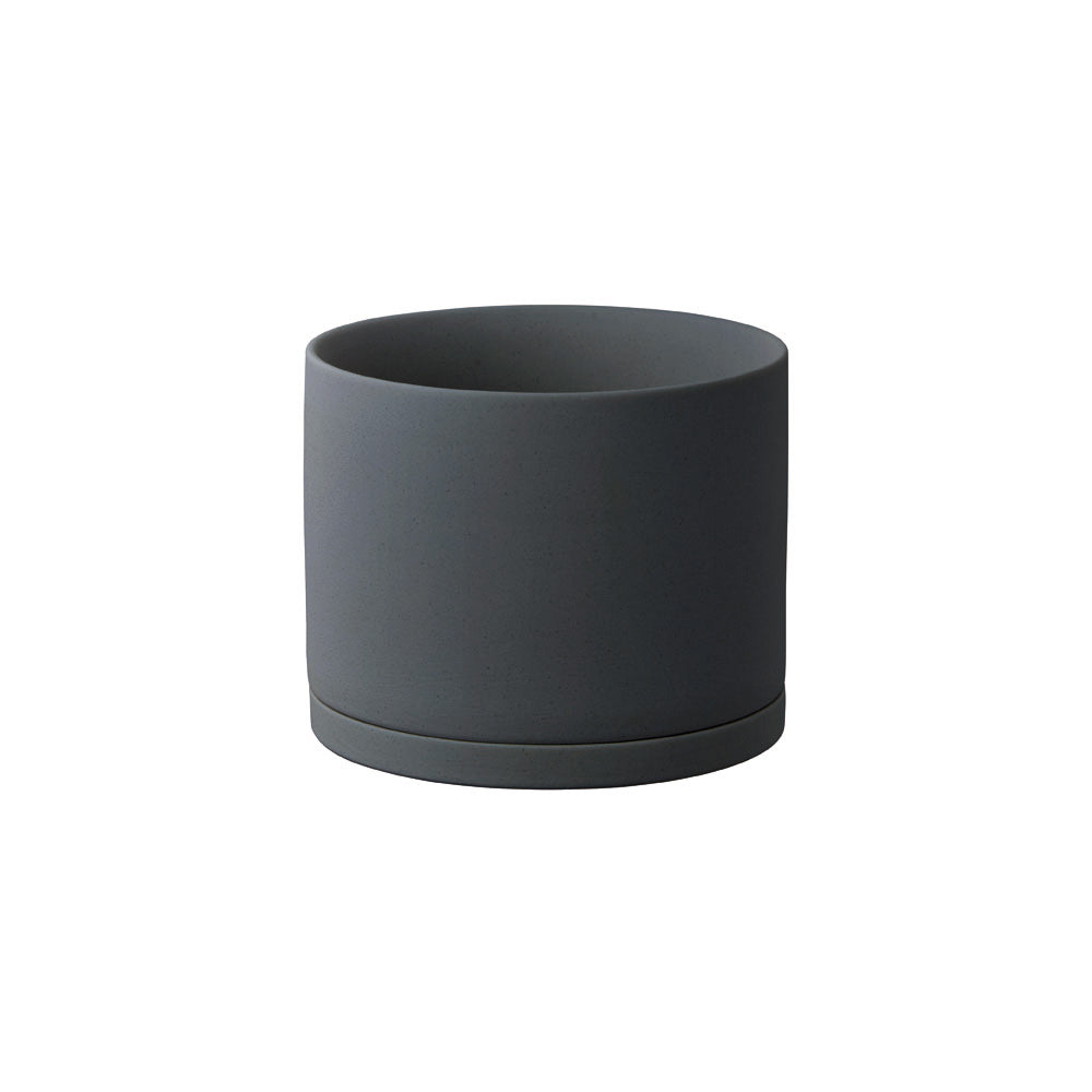 KINTO PLANT POT 191_ 135MM / 5IN  DARK GRAY