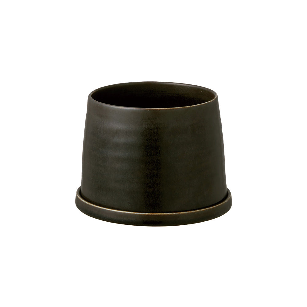 KINTO PLANT POT 192_ 125MM / 5IN  BLACK
