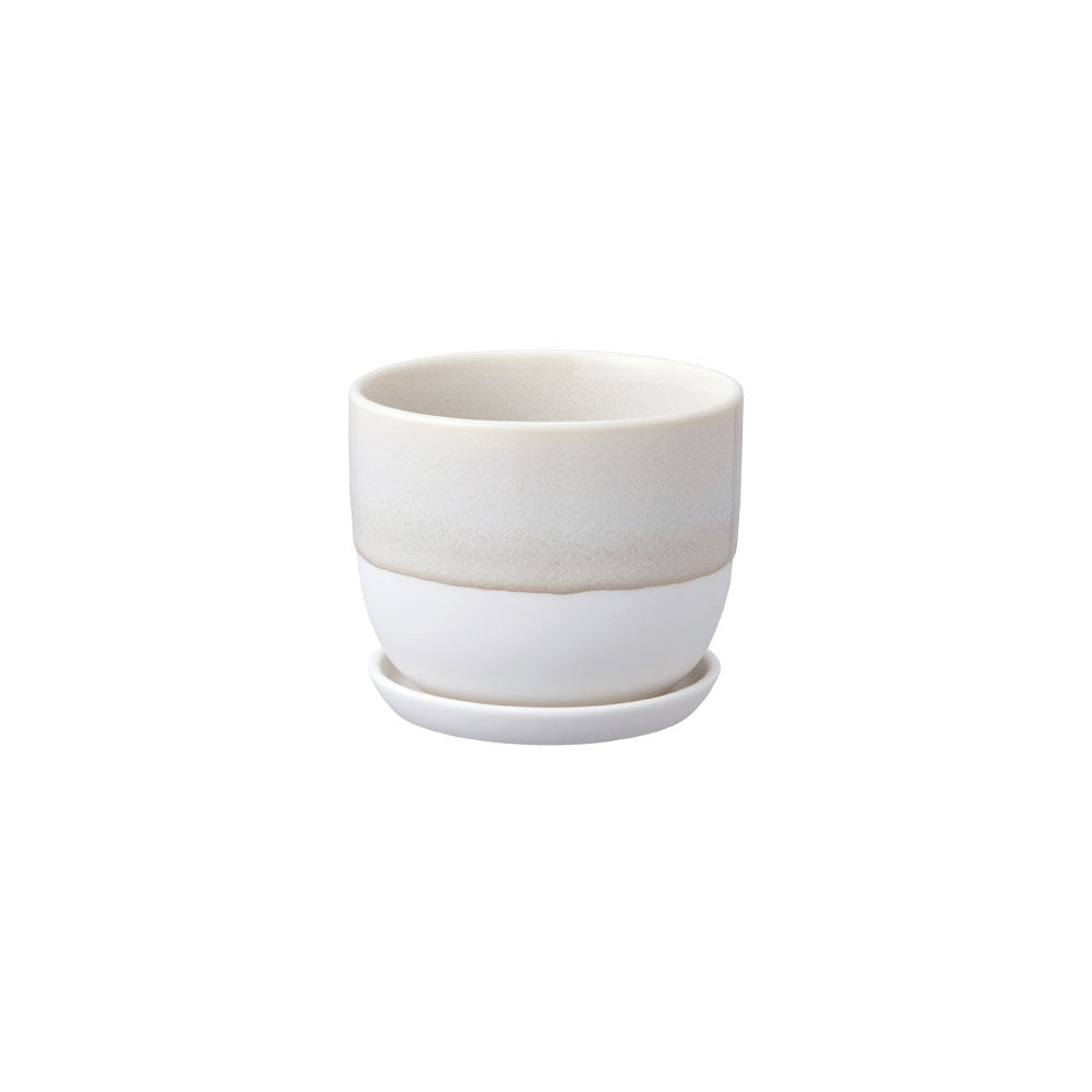 KINTO PLANT POT 193_ 110MM / 4IN  BEIGE