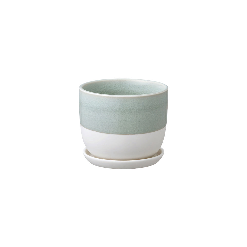 KINTO PLANT POT 193_ 110MM / 4IN  BLUE GRAY