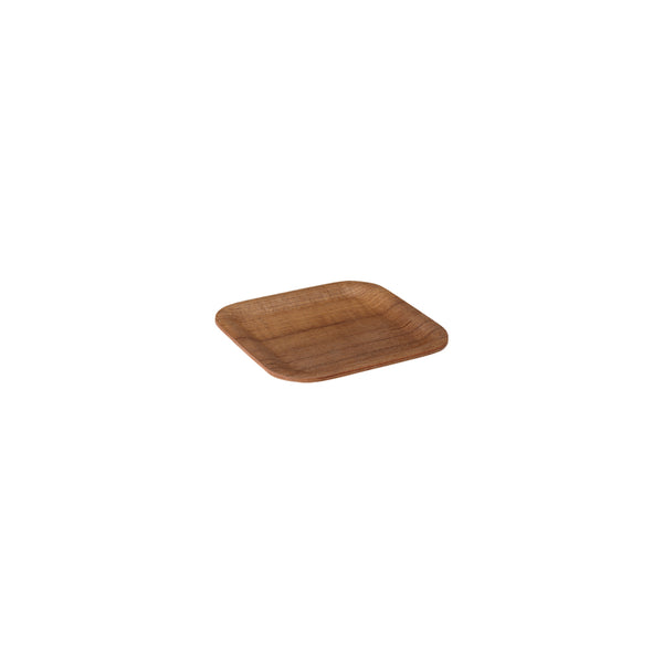 KINTO NONSLIP TRAY 160X160MM/ 6X6IN TEAK