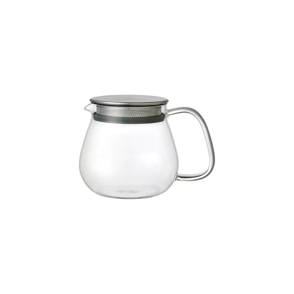KINTO UNITEA ONE TOUCH TEAPOT 460ML / 14OZ GRAY-NO-COLOR