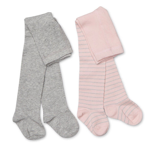 GIRLS TIGHTS PACK GREY, PINK AND SILVER