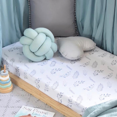 WILD FERN | FITTED COT SHEET