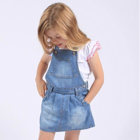 PLAYGROUND DENIM ROMPER LIGHT DRESS