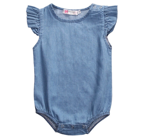 SUMMER BABY DENIM ROMPER