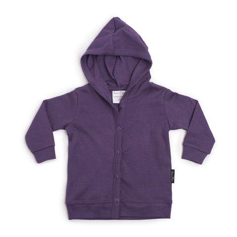 HOODED LIGHTWEIGHT CARDIGAN | BERRY