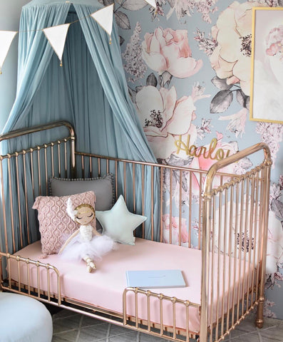 LULLABY PINK | FITTED COT SHEET