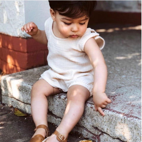 SUN TRIBE ROMPER UNISEX NATURAL UNDYED