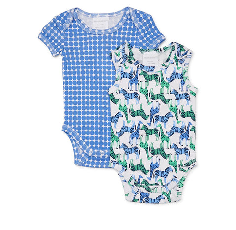 ANIMALS BABY BOYS 2 PACK SUMMER BODYSUIT