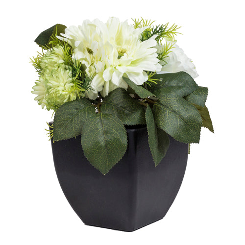 Bouquet Negro con flores green
