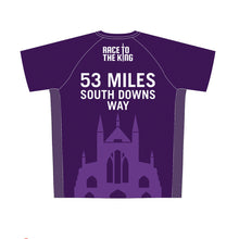 Load image into Gallery viewer, Race to the King Women's Purple Tech Top