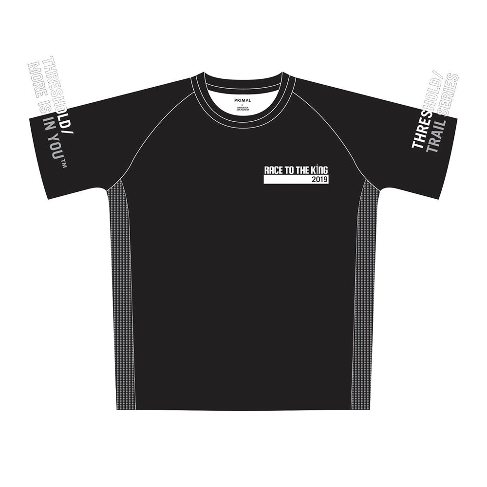 Race to the King Men's Black Tech Top