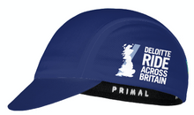 Load image into Gallery viewer, Deloitte Ride Across Britain Cycling Cap 2021 - PREORDER