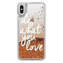 Casetify Glitter Case Do What You Love (Gold) for iPhone XS Max