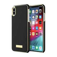 Kate Spade Wrap Case Saffiano Black Gold Plate for iPhone XS Max
