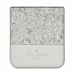 Kate Spade Sticker Pocket Glitter Silver