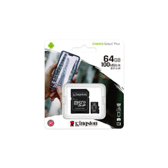 Kingston 64GB microSDXC Canvas Select Plus Class 10 Flash Memory Card SDCS2
