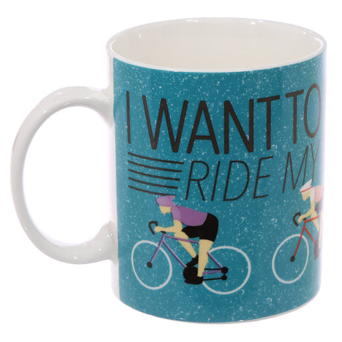 'I Want To Ride My Bicycle' Bone China Mug