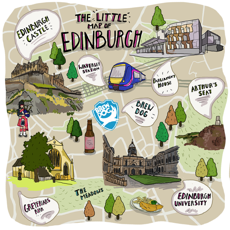 The Little Map of Edinburgh Present Boutique