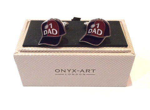 '#1 Dad' Baseball Hat Cufflinks
