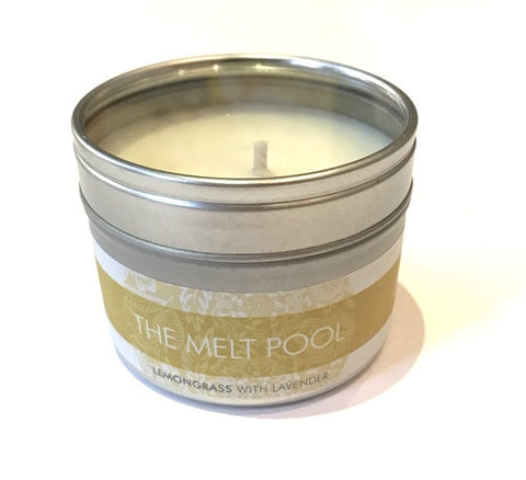 Lemongrass with Lavender Candle - Large Travel Tin - The Melt Pool