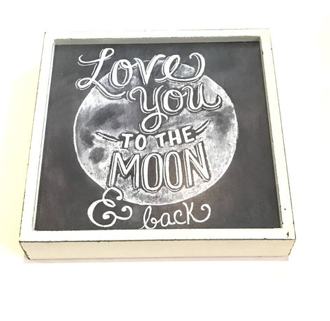 'Love You To The Moon & Back' Boxed Frame