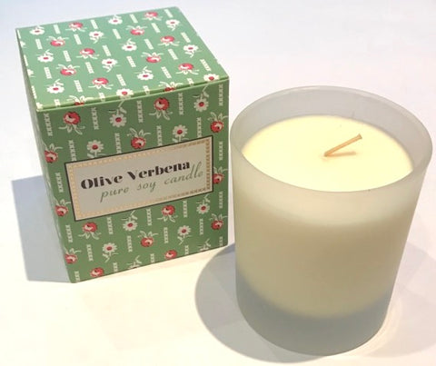 Olive Verbena Scented Candle