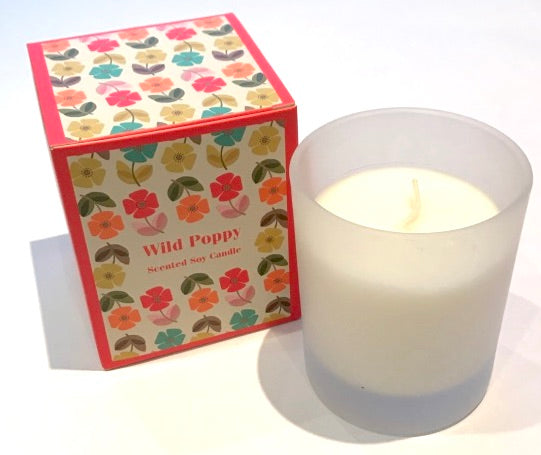 Wild Poppy Scented Candle