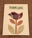 Thank you card Teacher: Bird Quirky Bee