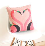 Geometric Flamingos Cushion Cover - Quirky Bee - 2