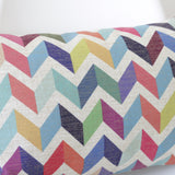 Geometric Chevron Bolster Cushion Cover - Quirky Bee - 2